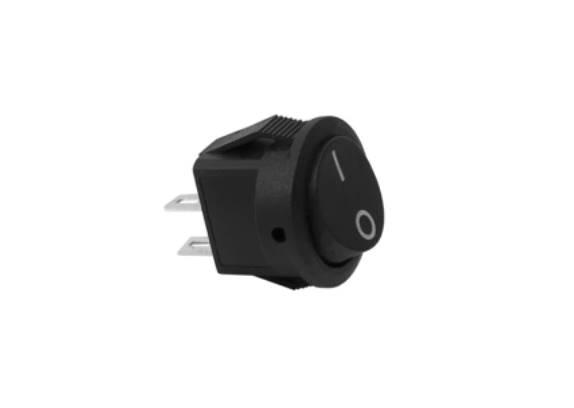 Przełącznik kołyskowy okrągły mały, czarny