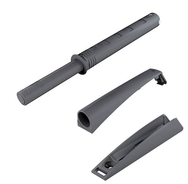 K-Push extra mocny z odbojnikiem i adapterem, szary