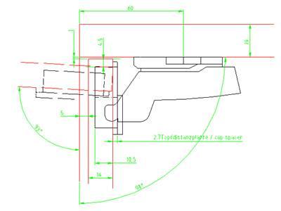 Adapter do zmniejszenia głębokości nawiercenia 2,7 mm