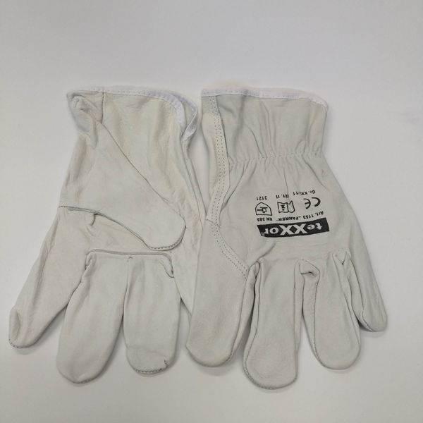 Rękawice wzmacniane skórą lico FAHRER rozm.10