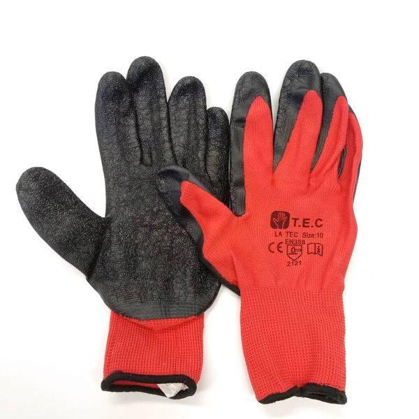 Rękawice DRAGON czerwone/czarne rozm. 8