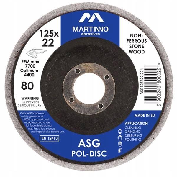 Ściernica elast. ASG 125x8x22 gr. 80 coarse