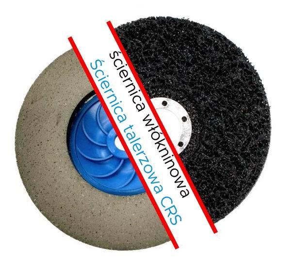 Ściernica elast. czyszcząca CRS 125x12xM14 coarse