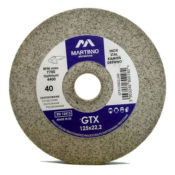 Ściernica elast. GTX T41 125x8x22 gr. 40 v. coarse
