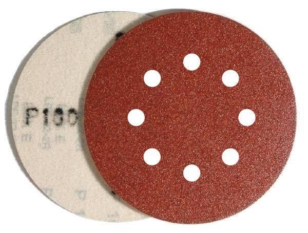 Krążek rzep PL28CK 125mm gr. 60 8-otw GLS5