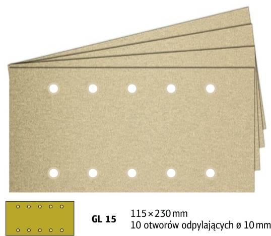 Arkusz rzep 115x230 gr. 60 PS33K GL15 /100/