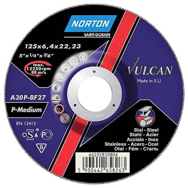 Tarcza do szlifowania 125x6,4x22 A30P Vulcan /10/