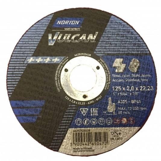 Tarcza do cięcia T41 125x2,0x22,2 A30S Vulcan