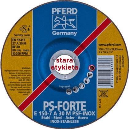 Tarcza do szlifowania 150x7,0x22 PSF-INOX