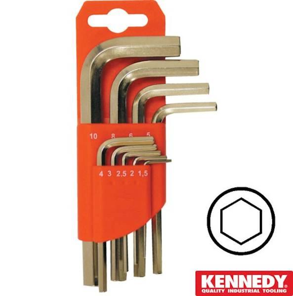 Klucze imbusowe krótkie 1,5-10mm zestaw