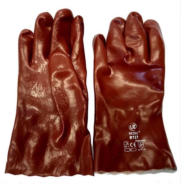 Rękawice kwasoodporne z PVC