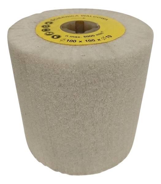 Ściernica 100x100x19 NFW600 włóknina biała czyścik