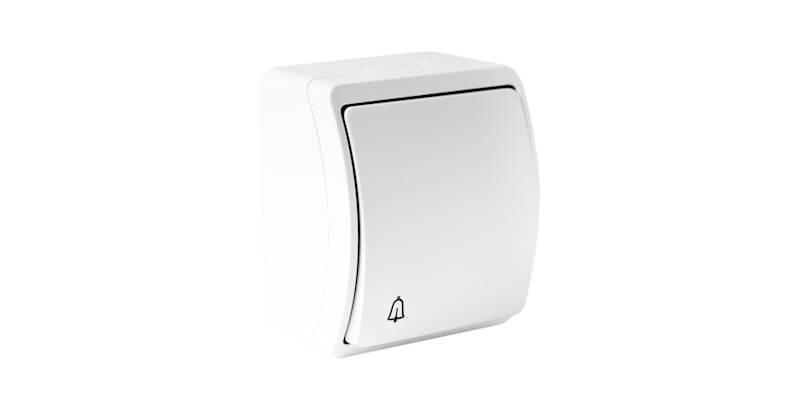 Łącznik dzwonek n/t IP44 biały