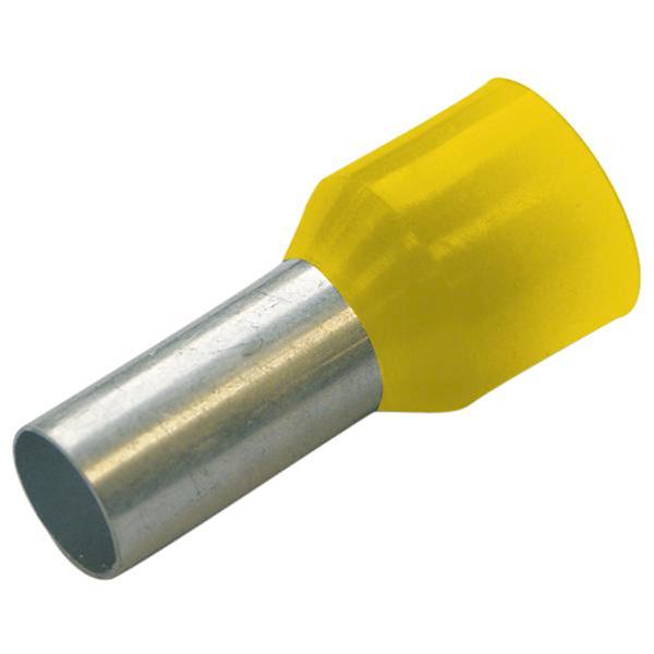 Końcówka tulejkowa izolowana 25/16 DIN żółta