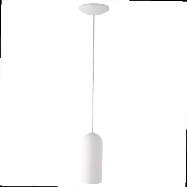 Lampa wisząca biała metalowa