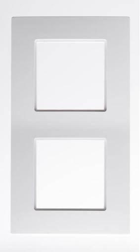 ROSA Ramka podwójna R-2Q biały