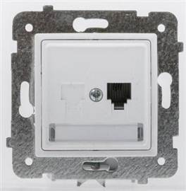 ROSA Gniazdo telefoniczne pojedynczeGPT-1Q/m białe