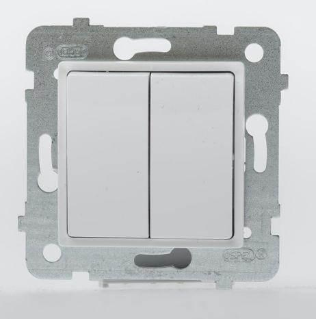 ROSA Łącznik świecznikowy (podwójny) ŁP-2Q/m biały