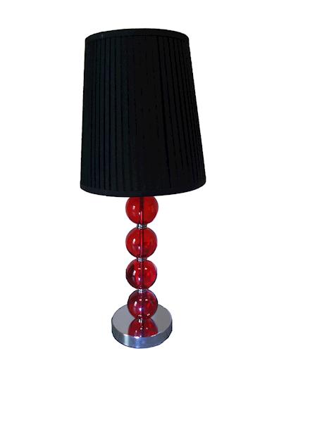 Lampa stołowa czerwona