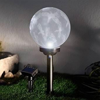 Lampa ogrodowa kula solarna