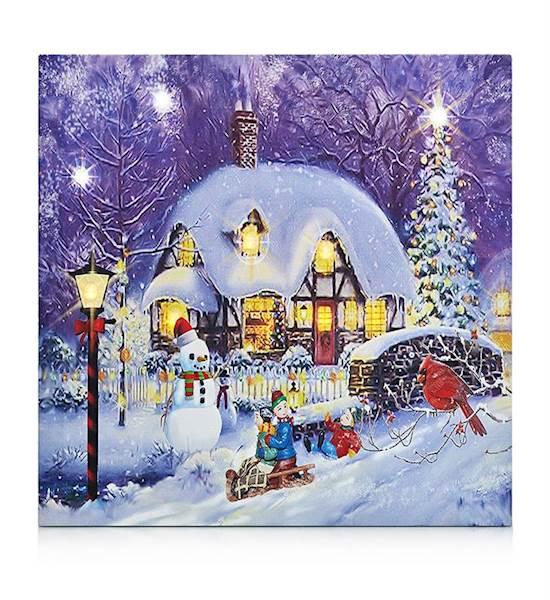 Obraz z motywem świątecznym podświetlany 30x30