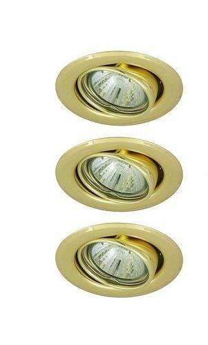 Oprawka  halogenowa sufitowa light ruchoma złota