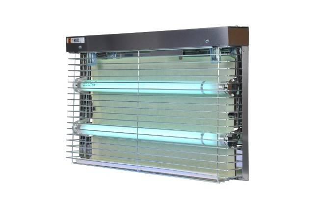 Lampa lepowa TRIO nierdzewna 2x15W jednostronna