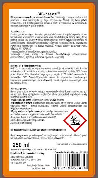 BIO-Insektal 250ml - na komary i nie tylko...