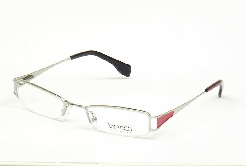Oprawa okularowa VD1108 C01 Verdi - srebro/czerwon