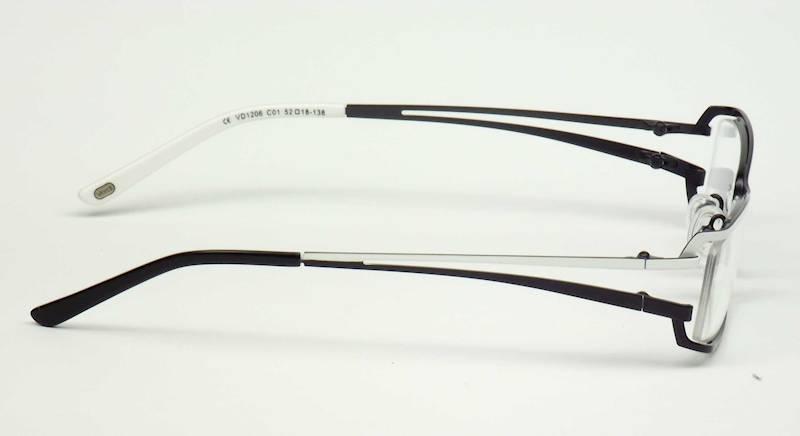 Oprawa okularowa VD1206 C01 Verdi - biały/czarny