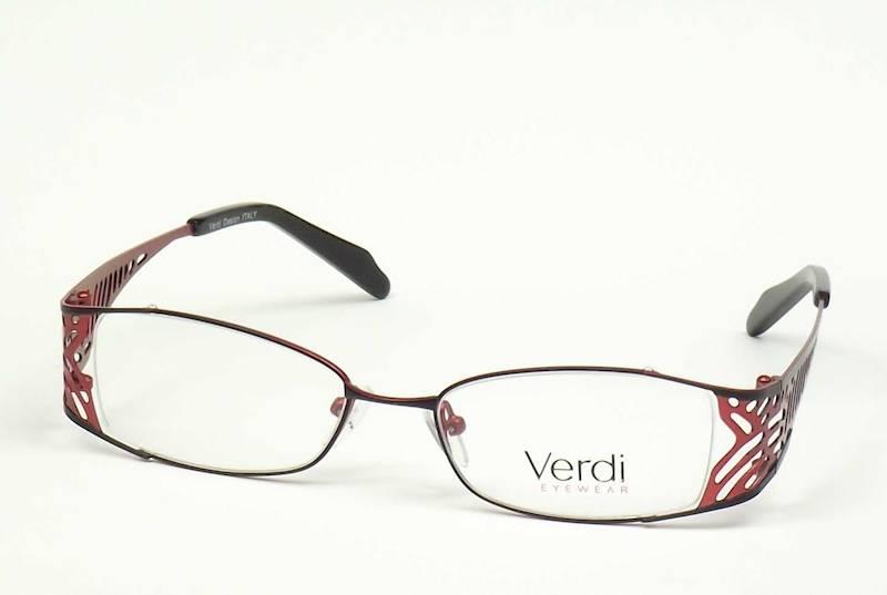 Oprawa okularowa VD1403 C01 Verdi - czarny/czerwon