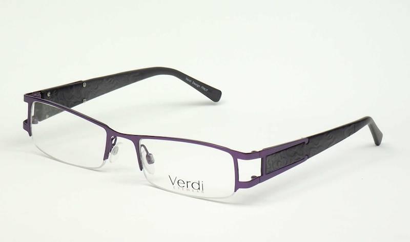 Oprawa okularowa VD1123 C02 Verdi - purpura/czarny