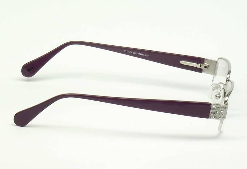 Oprawa okularowa VD1120 C02 Verdi - srebro/purpura