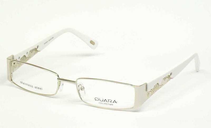 Oprawa okularowa QR1005 C01 Quara - złoty/biały
