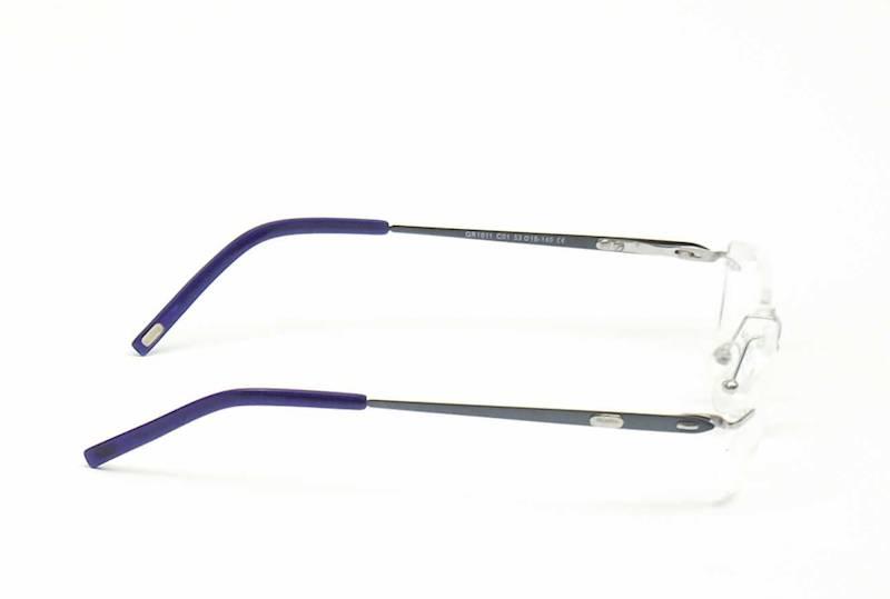Oprawa okularowa QR1011 C01 Quara - srebro/turkus