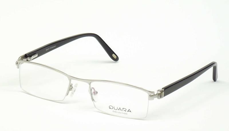 Oprawa okularowa QR1203 C02 Quara - srebro/czarny