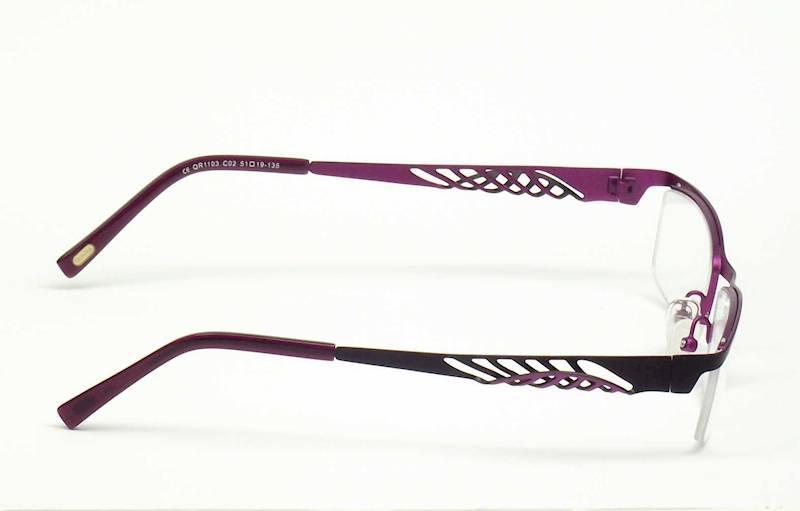 Oprawa okularowa QR1103 C02 Quara - czarny/purpura