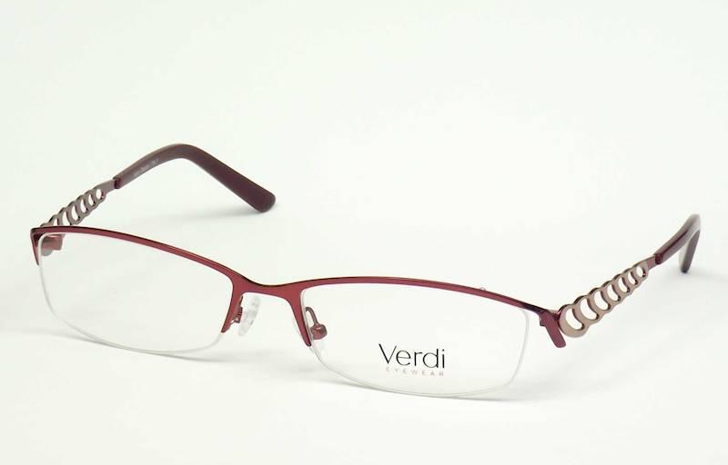 Oprawa okularowa VD1419 C02 Verdi - burgund/złoto