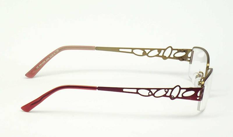 Oprawa okularowa VD1409 C02 Verdi -burgund/złoto