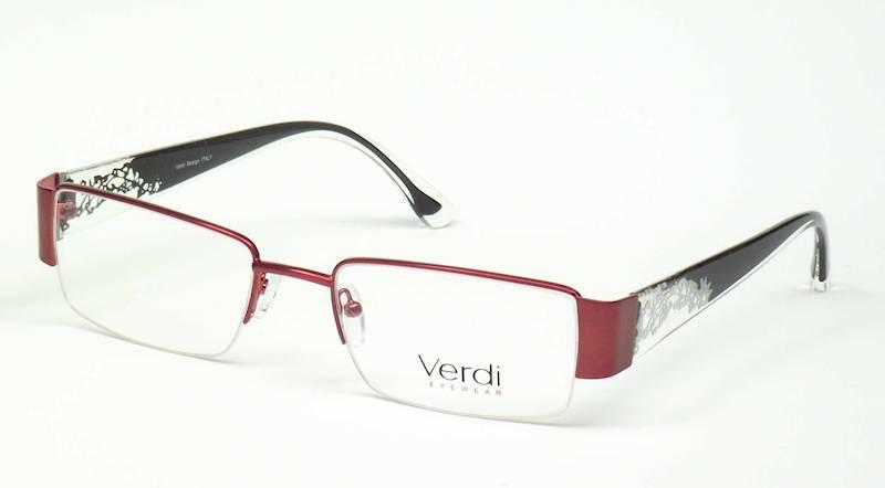Oprawa okularowa VD1142 C02 Verdi - burgund/czarny
