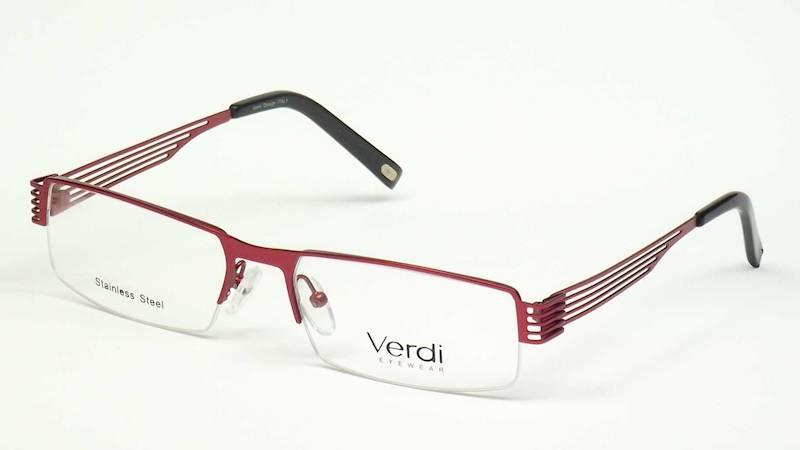 Oprawa okularowa VD1138 C03 Verdi - burgund/czarny