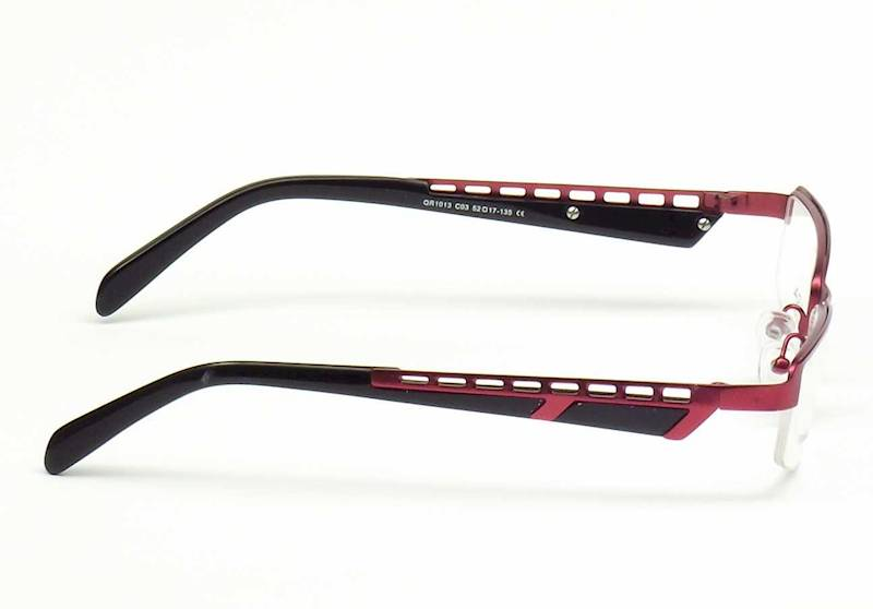 Oprawa okularowa QR1013 C03 Quara - burgund/czarny