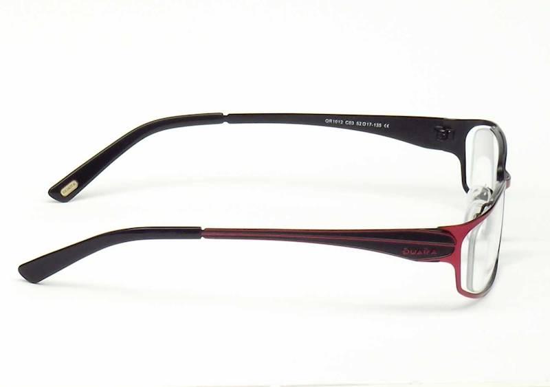 Oprawa okularowa QR1012 C03 Quara - burgund/czarny