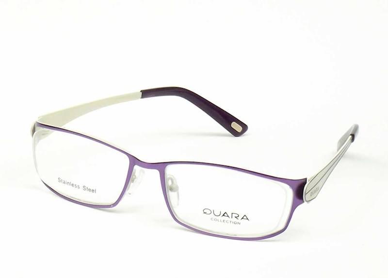 Oprawa okularowa QR1012 C02 Quara - fiolet/beż
