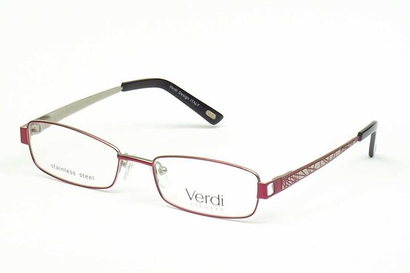 Oprawa okularowa VD1145 C02 Verdi - burgund/srebro
