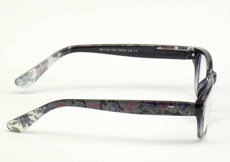 Oprawa okularowa BN1104 C02 Biano - czarny+kwiatki
