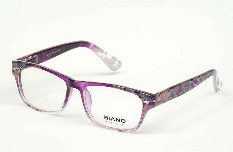 Oprawa okularowa BN1104 C01 Biano - fiolet+kwiatki
