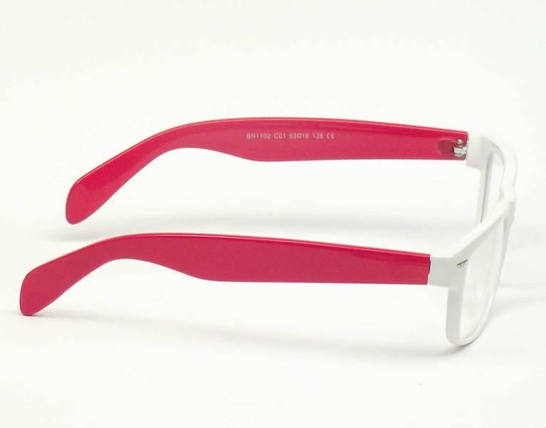 Oprawa okularowa BN1102 C01 Biano - biały/czerwony