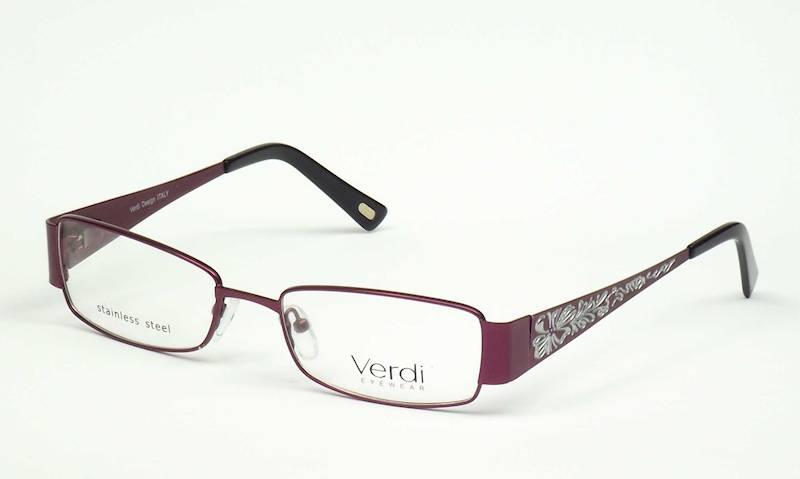 Oprawa okularowa VD1159 C01 Verdi - śliwka/biały