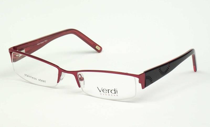 Oprawa okularowa VD1150 C02 Verdi - burgund/czarny